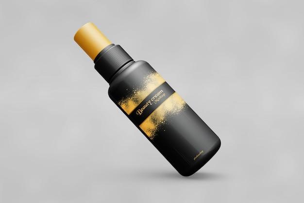 Maquete de frasco de spray preto
