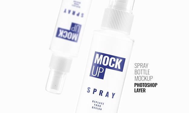 Maquete de frasco de spray realista renderização em 3d