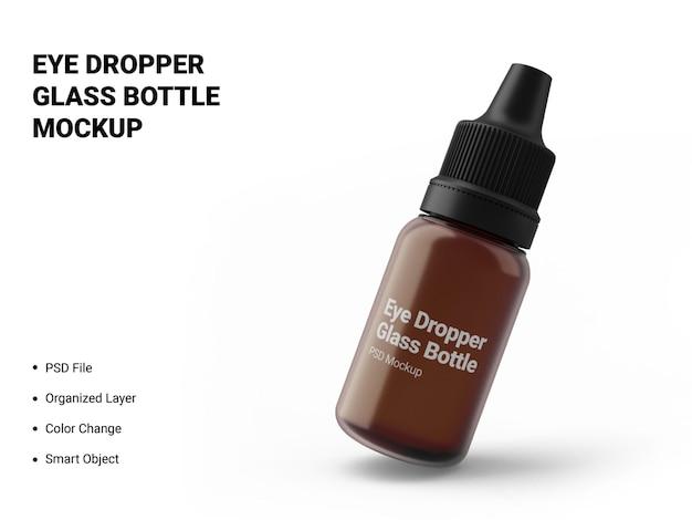 Maquete de frasco de vidro com conta-gotas