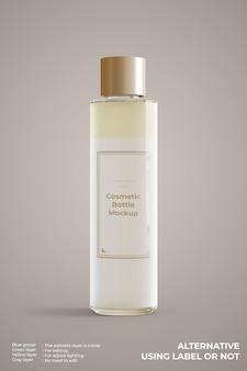 Maquete de frasco de vidro cosmético isolada