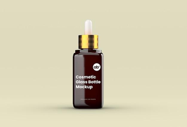 Maquete de frasco de vidro cosmético