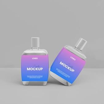 Maquete de frasco de vidro spray 3d