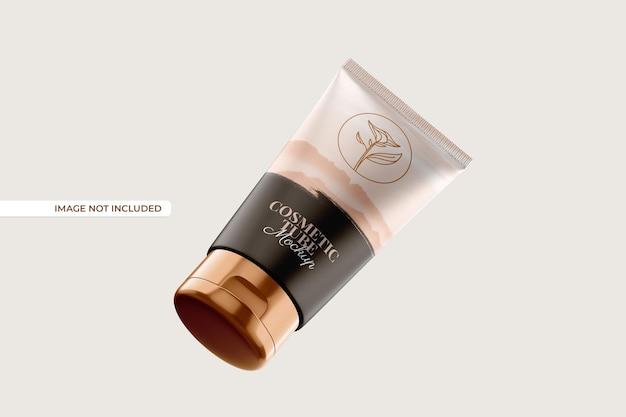 Maquete de frasco e tubo cosmético