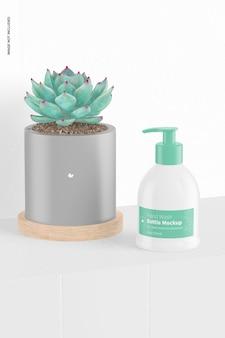 Maquete de frasco para lavagem de mãos de 9,3 onças, vista esquerda
