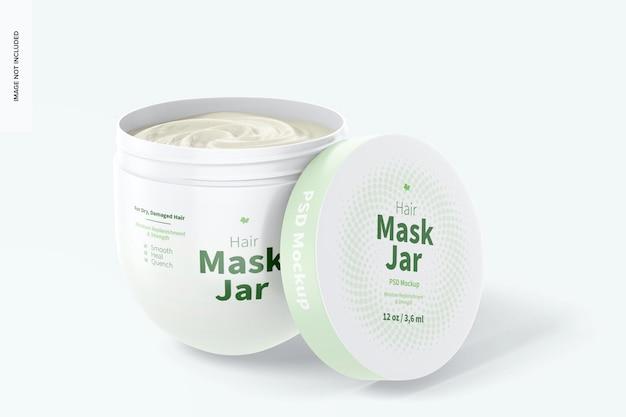 Maquete de frasco para máscara de cabelo