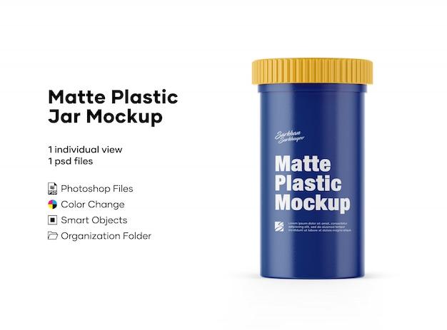 Maquete de frasco plástico fosco