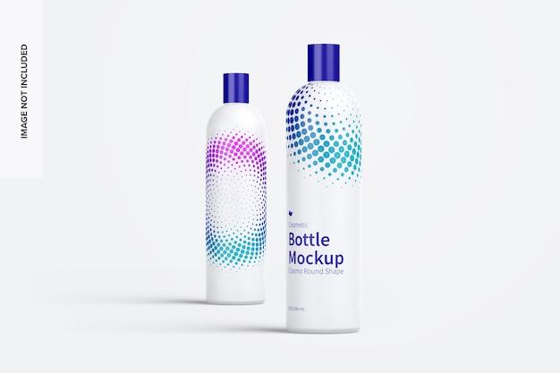 Maquete de frascos de cosméticos arredondados de 8 onças / 240 ml