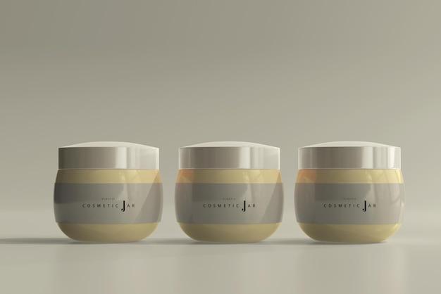 Maquete de frascos de cosméticos