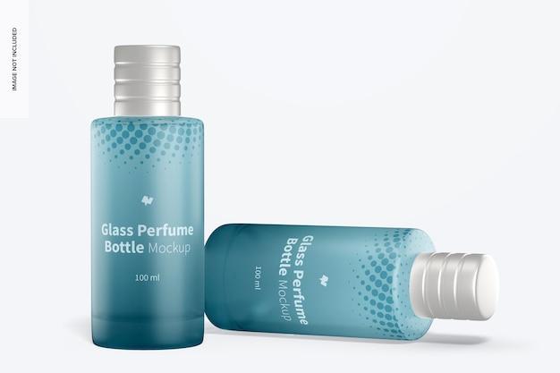 Maquete de frascos de perfume de vidro de 100 ml