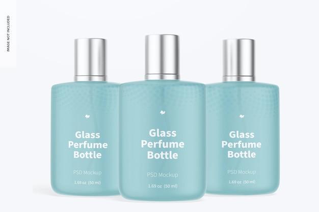 Maquete de frascos de perfume de vidro de 50 ml