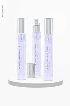 Maquete de frascos de perfume em spray de 10 ml