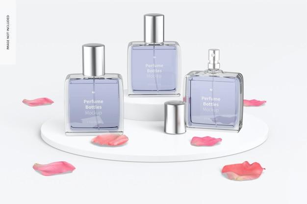 Maquete de frascos de perfume