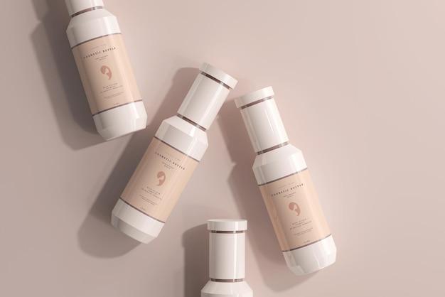 Maquete de frascos de plástico para cosméticos