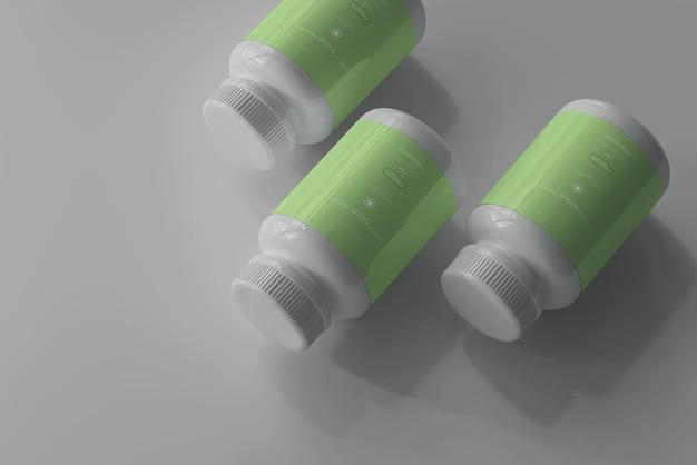Maquete de frascos de remédios