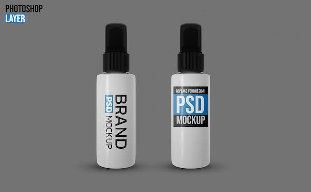 Maquete de frascos de spray