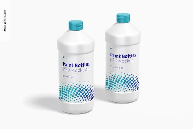 Maquete de frascos de tinta de 32 onças