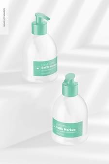Maquete de frascos para lavagem de mãos de 9,3 onças, perspectiva