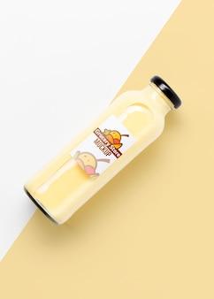 Maquete de frutas cultivadas naturalmente para smoothies