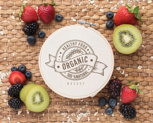 Maquete de frutas saudáveis