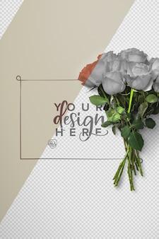 Maquete de fundo de buquê de rosas
