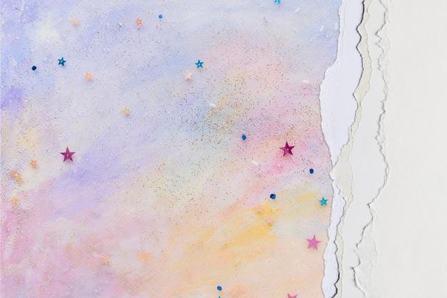 Maquete de fundo de papel rasgado psd pastel diy craft