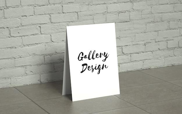 Maquete de galeria realista