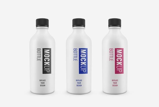 Maquete de garrafa branca realista