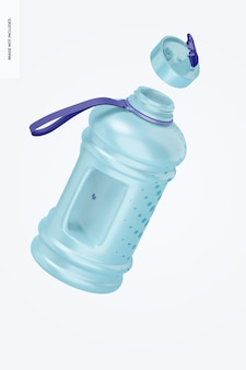 Maquete de garrafa de água de 2,2 l, flutuante