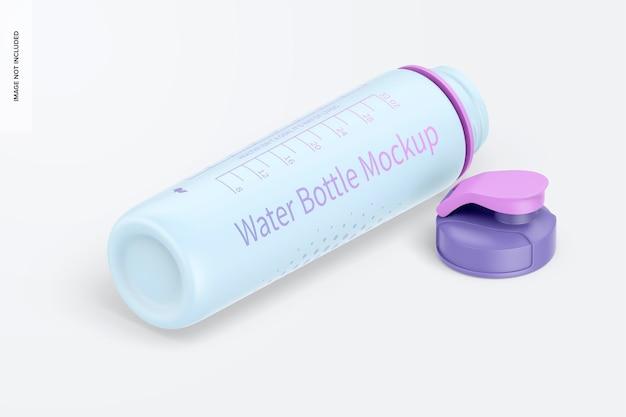 Maquete de garrafa de água de 32 onças, vista direita isométrica