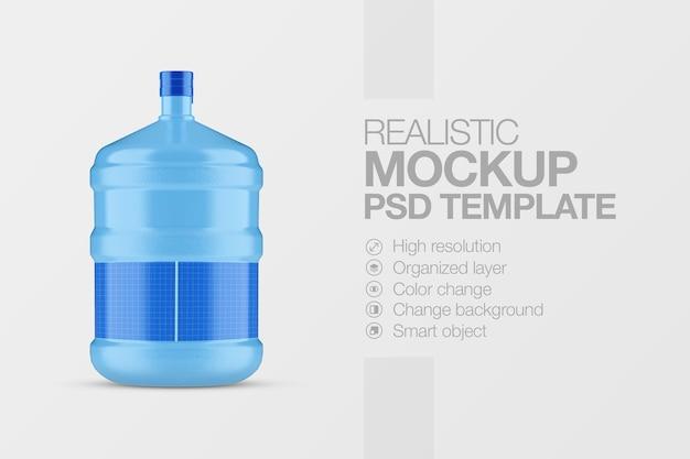 Maquete de garrafa de água de plástico galão realista