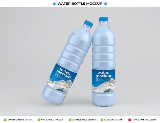 Maquete de garrafa de água de plástico isolada