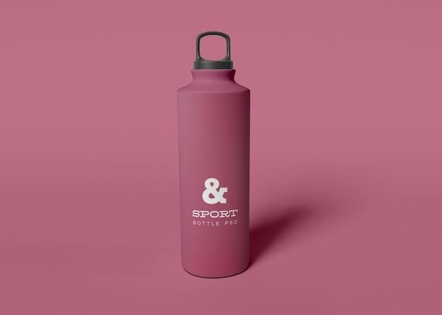 Maquete de garrafa de água esportiva