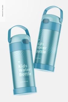 Maquete de garrafa de água infantil de 12 onças