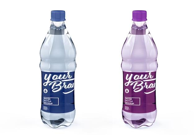 Maquete de garrafa de água isolada
