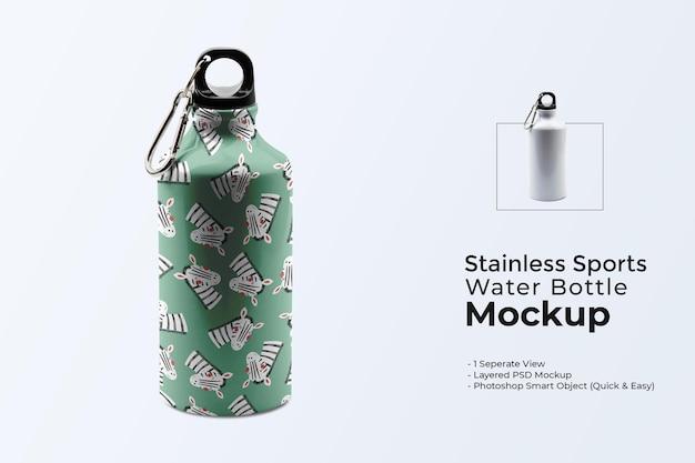 Maquete de garrafa de água para esportes em aço inoxidável