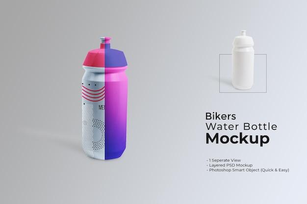 Maquete de garrafa de água para motociclistas
