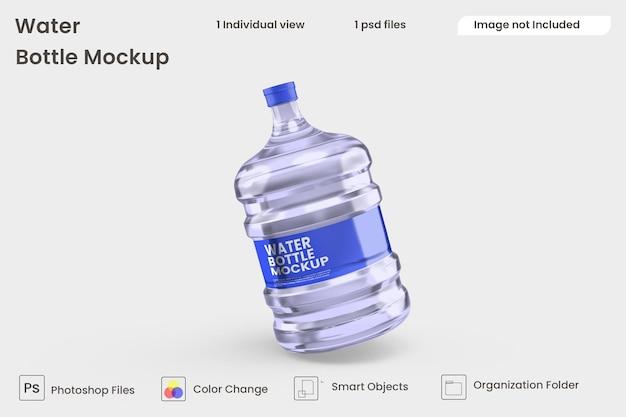 Maquete de garrafa de água premium psd