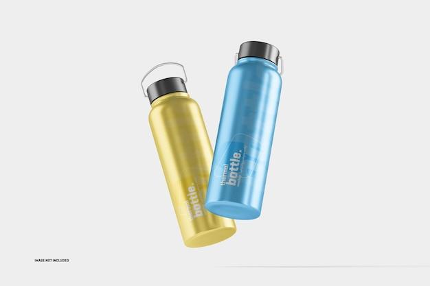Maquete de garrafa de água termal