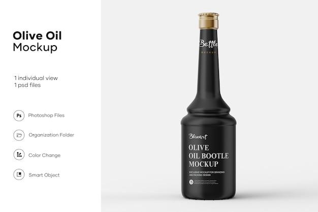 Maquete de garrafa de azeite de oliva de cerâmica