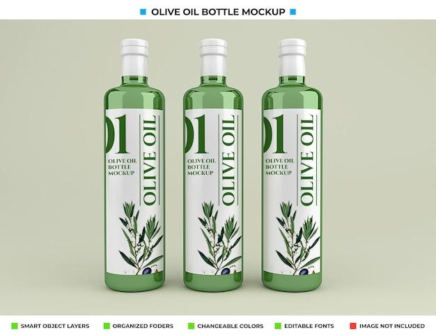 Maquete de garrafa de azeite de oliva isolada Psd Premium