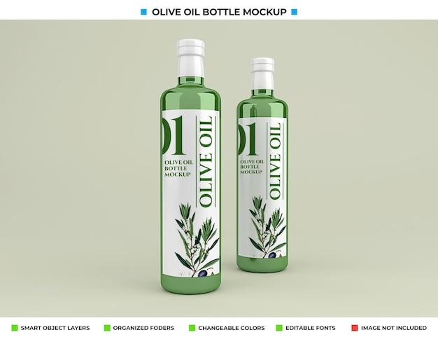 Maquete de garrafa de azeite de oliva isolada
