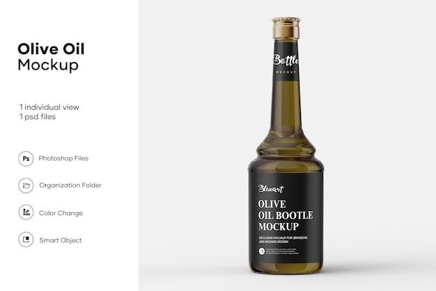 Maquete de garrafa de azeite Psd Premium