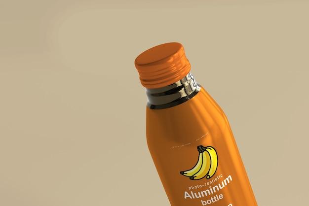 Maquete de garrafa de bebida de alumínio