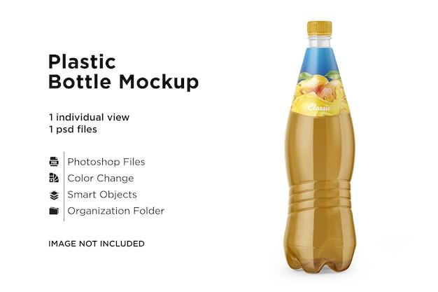 Maquete de garrafa de bebida de plástico