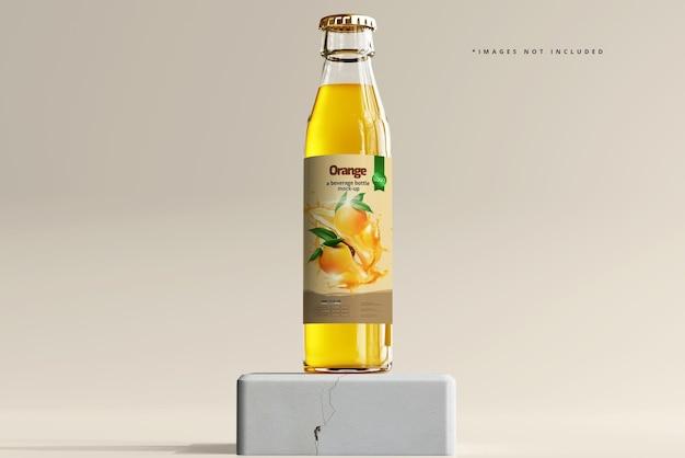 Maquete de garrafa de bebida de vidro