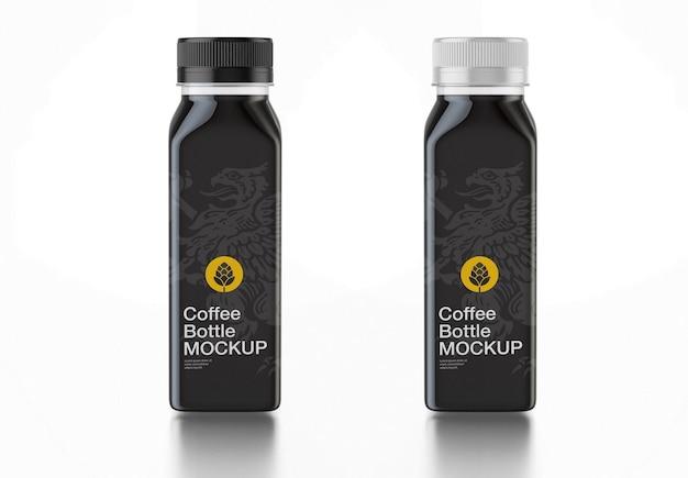 Maquete de garrafa de bebida escura