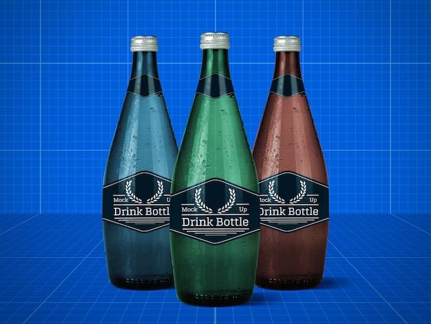 Maquete de garrafa de bebida