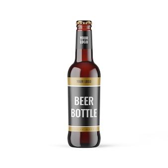 Maquete de garrafa de cerveja - maquetes exclusivas para branding e design de embalagem
