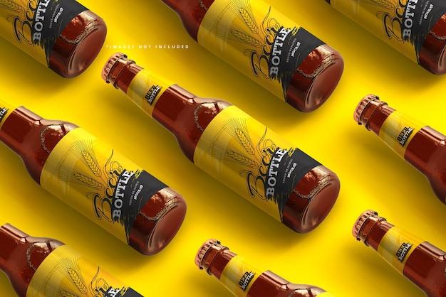 Maquete de garrafa de cerveja