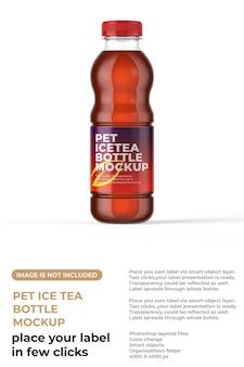 Maquete de garrafa de chá gelado para animais de estimação
